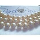 Parelcollier * roomwit 7mm AAA top kwaliteit, ca 45cm witgoud JKa 585 met hanger 3 parels