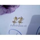 Gouden oorstekers Jka 14k 585 stevig goud 5mm parelschotel, parels los kopen
