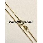 Gouden venetiaans collier 14k  45cm, 14k ca. 0,7 mm  fijn nu met veerring
