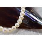 Parelsnoer zoetwaterparels wit 5.5 mm bijna rond  geen slot