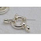 Modern ringslot * los voor parelketting, zilver 925 12mm ring stevig