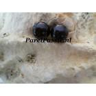 Zwarte parelst top kwaliteit 8,3mm AAA rond voor oorbellen paar 2 st