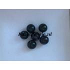Akoya zoutwaterparel zwart 6,7 - 6,8mm rond half geboord