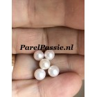 Losse parel 5.5 - 6mm parel zoetwater  AAA rond wit, half geboord 1 st.