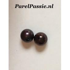 Ronde zoetwater parels zwart 8,0 mm AAA