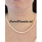 Akoya parels collier restyle kleine fijne  3mm -  7mm zoutwater 43 to 46 cm 14k goud,