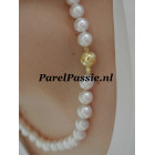 Luxe parels collier ketting grote 10mm - 11mm  14k gouden slot  44 cm