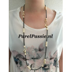 Akoya zoutwater parels design collier spinel lang colllier 90cm JKa