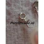 Witgouden hangers rib kap pin, 14k  585 2 stuk voor oorbellen