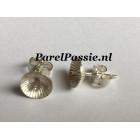 Zilveren oorstekers, zilver 925 8mm kap parels los kopen