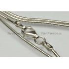 Moderne ketting zilver rh slangcollier 1,2mm, 100cm, 925 vraag naar de mogelijkheden van levering