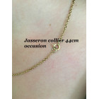 Occasion gouden collier 14k  44cm, ca. 2 mm jasseronschakel