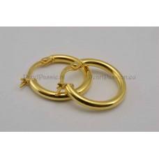Gouden creolen oorbellen 14k 585, geschikt om parelhanger aan te dragen