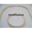 Parelketting parelarmband zoetwaterparels 5mm - 6mm 48cm - 49cm 18cm