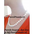 Parelketting * zoetwater grote 9-10mm magneetslot 47cm