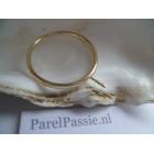Parelring 14k goud 585 JKa modern strak parel los kopen naar wens de laatste