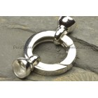 Groot slot zilver 3cm totaal voor parels ketting of armband zilver 925