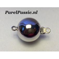 Groot zilveren bolslot 12mm 925 voor parelketting parelsnoer