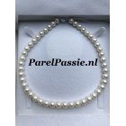 Echt witte zoetwaterparels wit 8.5 -9.6 mm rond parels AAA